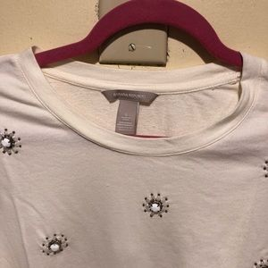Banana Republic sweatshirt jeweled size L